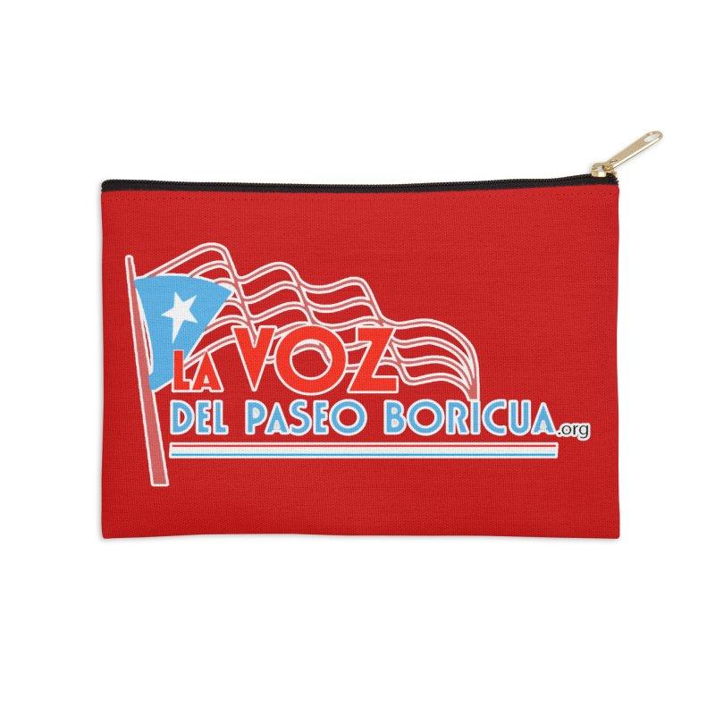 La Voz Del Paseo Boricua Accessories Zip Pouch by PRCC Tiendita