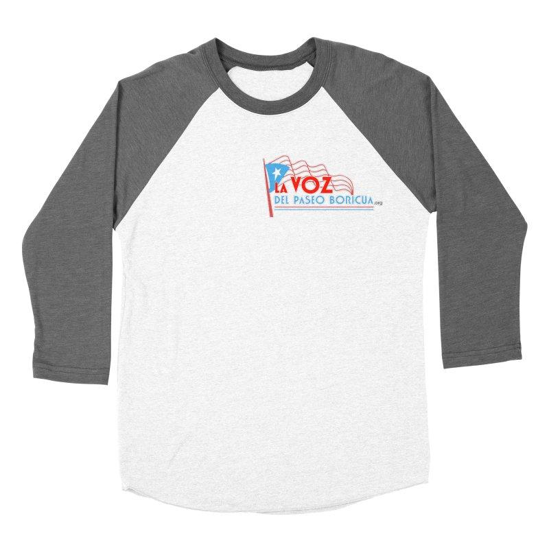 La Voz Del Paseo Boricua Women's Baseball Triblend T-Shirt by PRCC Tiendita