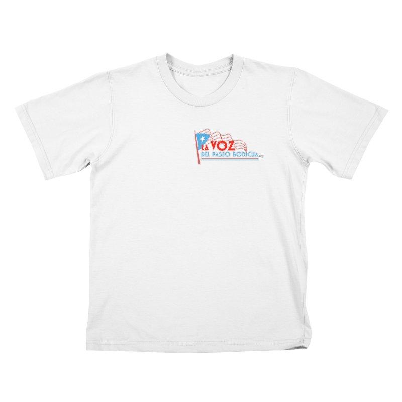La Voz Del Paseo Boricua Kids T-Shirt by PRCC Tiendita