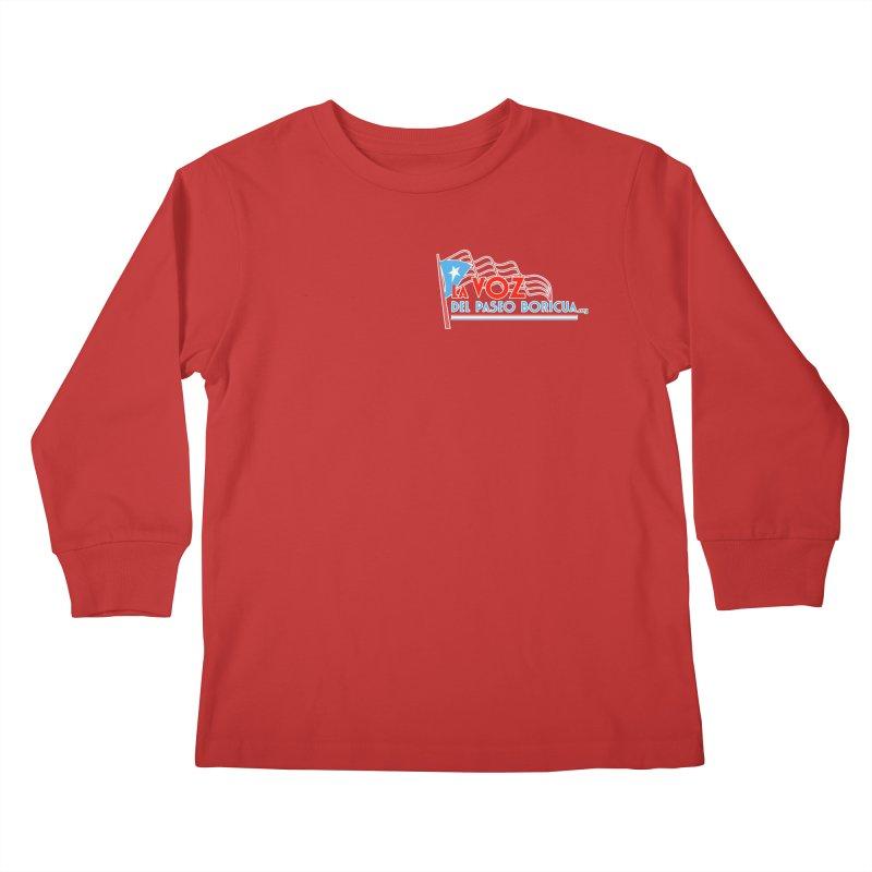 La Voz Del Paseo Boricua Kids Longsleeve T-Shirt by PRCC Tiendita