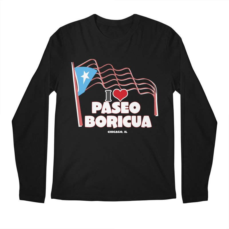 I LOVE PASEO BORICUA Men's Regular Longsleeve T-Shirt by PRCC Tiendita