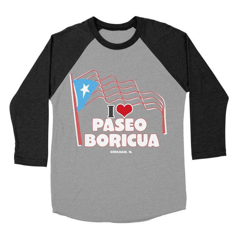 I LOVE PASEO BORICUA Women's Baseball Triblend Longsleeve T-Shirt by PRCC Tiendita