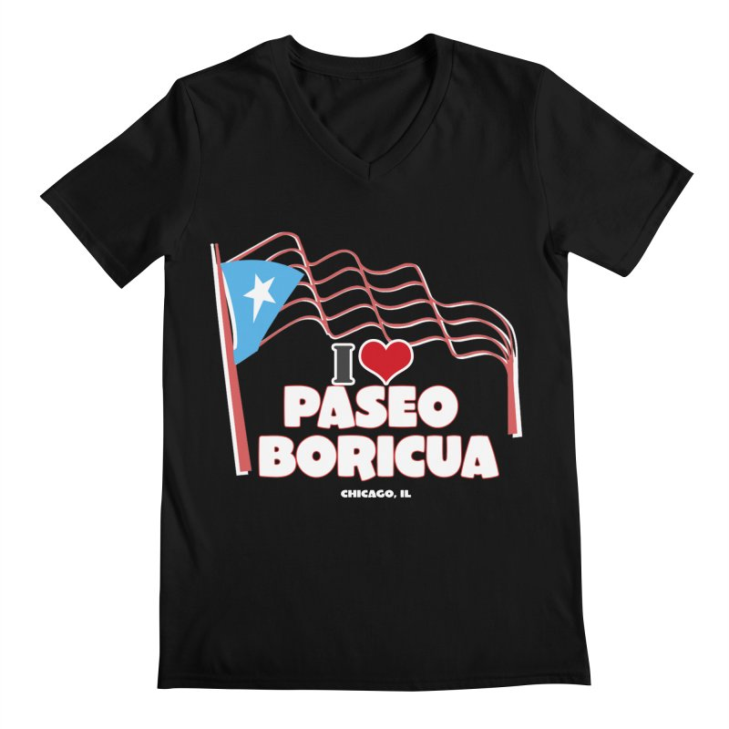 I LOVE PASEO BORICUA Men's V-Neck by PRCC Tiendita