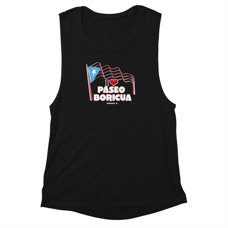 I LOVE PASEO BORICUA Women's Muscle Tank by PRCC Tiendita