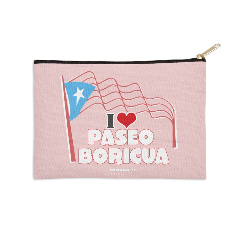 I LOVE PASEO BORICUA Accessories Zip Pouch by PRCC Tiendita
