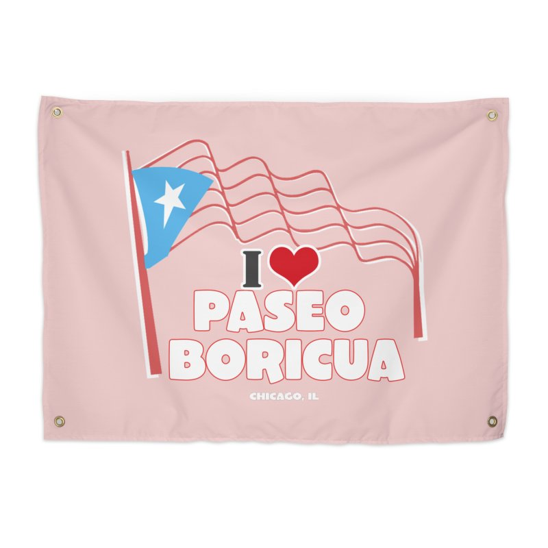 I LOVE PASEO BORICUA Home Tapestry by PRCC Tiendita