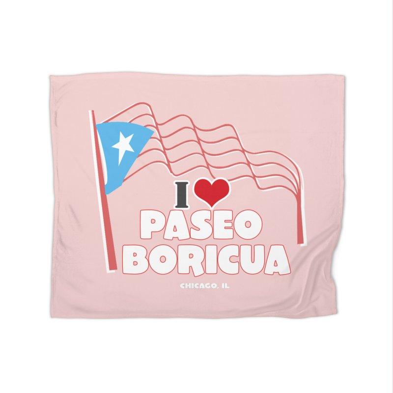 I LOVE PASEO BORICUA Home Fleece Blanket Blanket by PRCC Tiendita