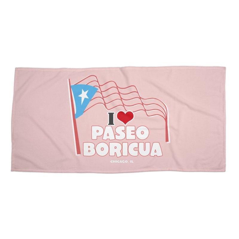I LOVE PASEO BORICUA Accessories Beach Towel by PRCC Tiendita