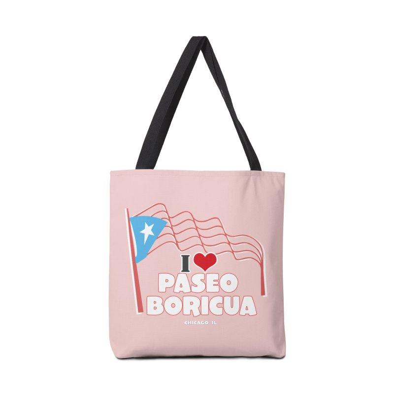 I LOVE PASEO BORICUA Accessories Bag by PRCC Tiendita
