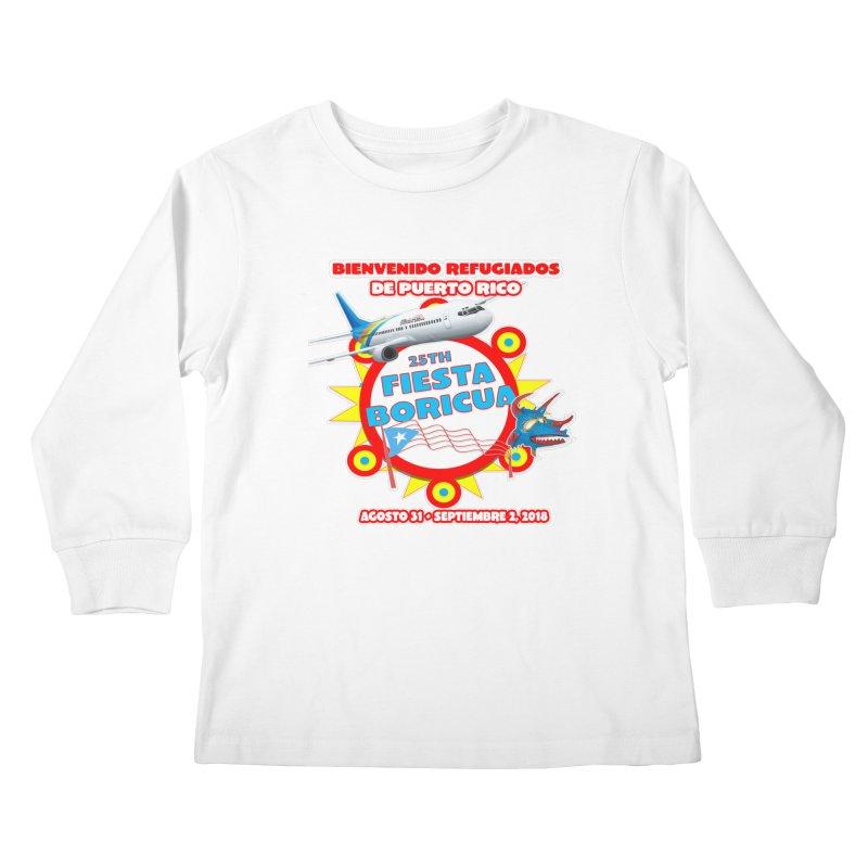 Fiesta Boricua 2018 Kids Longsleeve T-Shirt by PRCC Tiendita