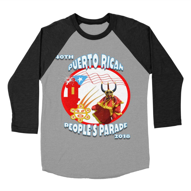 Puerto Rican People's Parade 2018 Men's Baseball Triblend T-Shirt by PRCC Tiendita