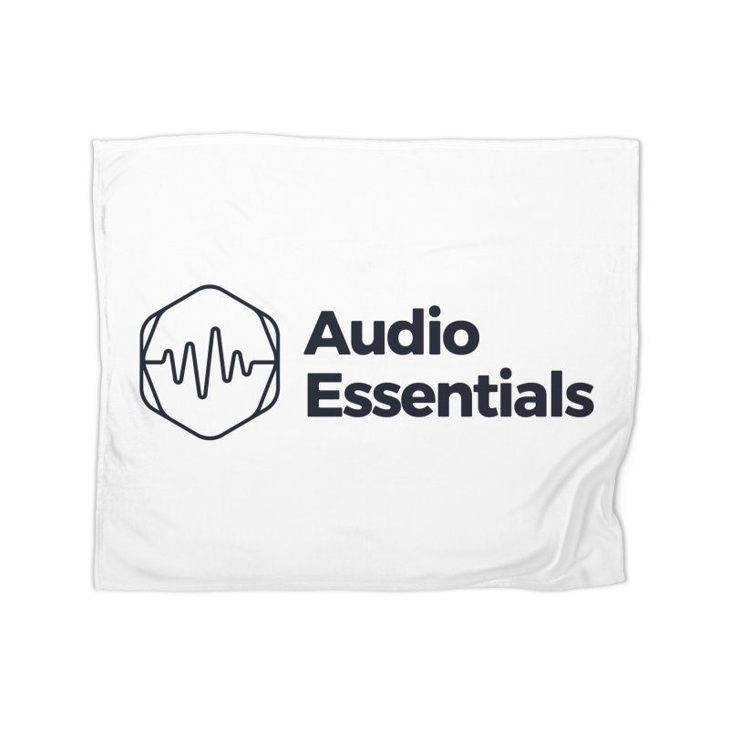 Audio Essentials Black Home Blanket by Precision Productions Artiste Shop