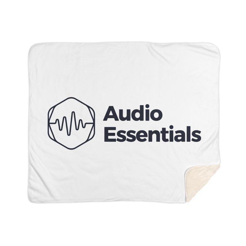 Audio Essentials Black Home Sherpa Blanket Blanket by Precision Productions Artiste Shop
