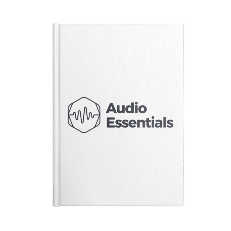 Audio Essentials Black Accessories Blank Journal Notebook by Precision Productions Artiste Shop