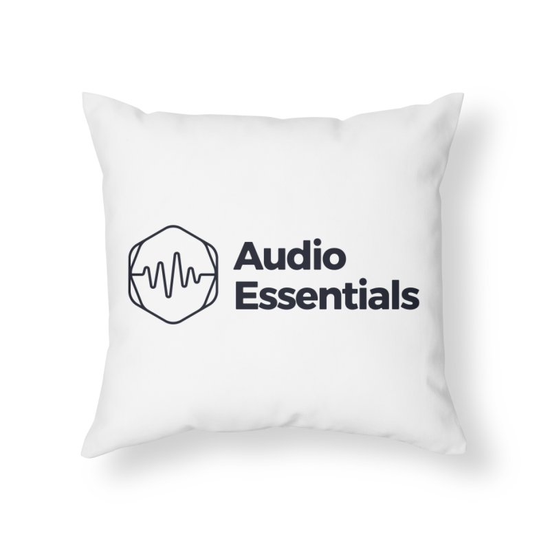 Audio Essentials Black Home Throw Pillow by Precision Productions Artiste Shop