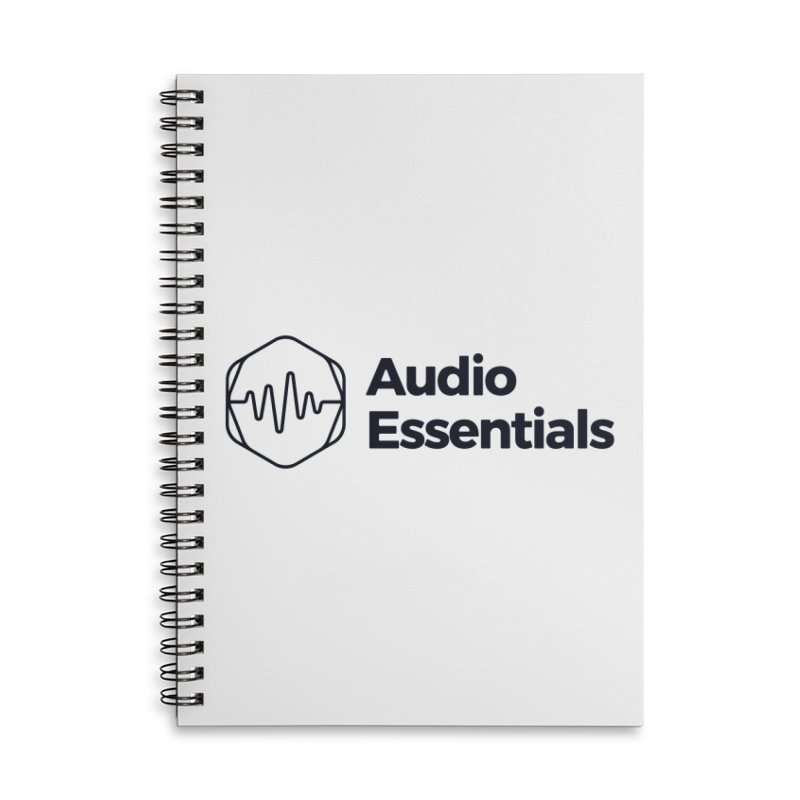 Audio Essentials Black Accessories Lined Spiral Notebook by Precision Productions Artiste Shop