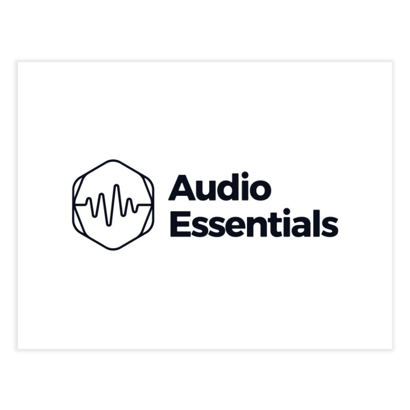 Audio Essentials Black Home Fine Art Print by Precision Productions Artiste Shop