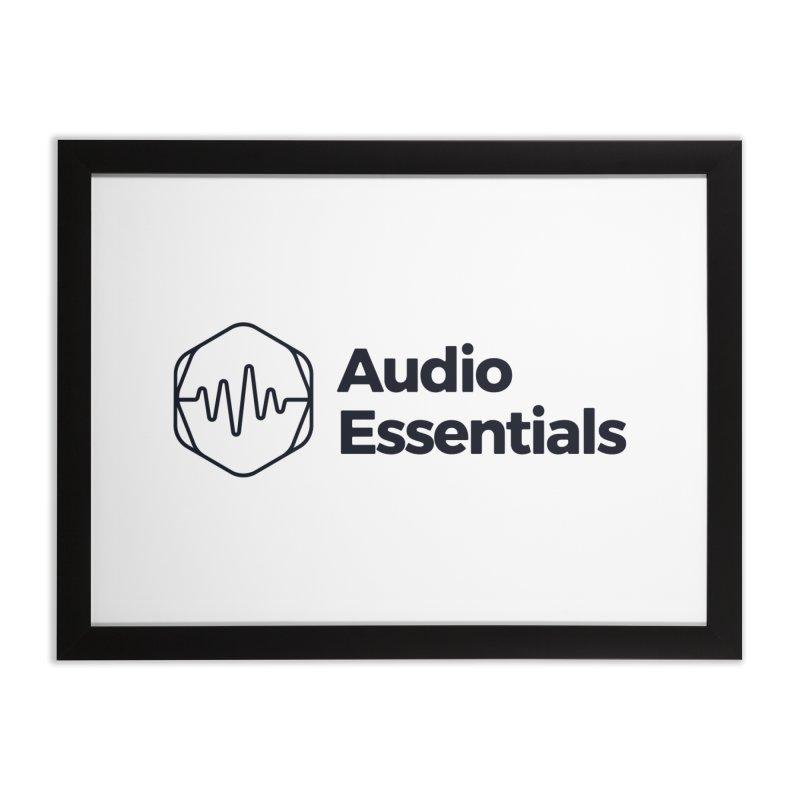 Audio Essentials Black Home Framed Fine Art Print by Precision Productions Artiste Shop