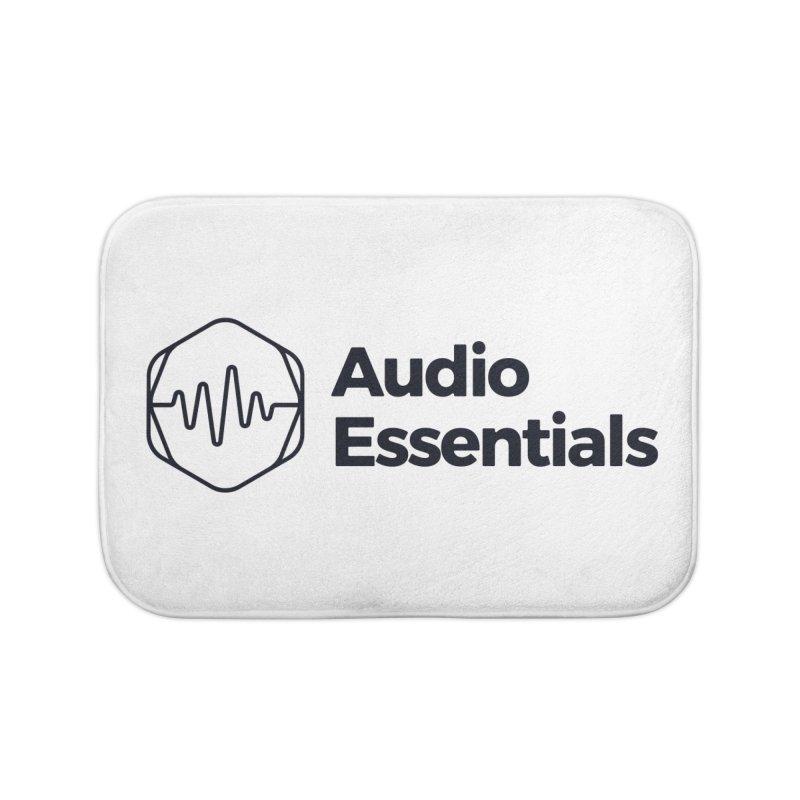 Audio Essentials Black Home Bath Mat by Precision Productions Artiste Shop