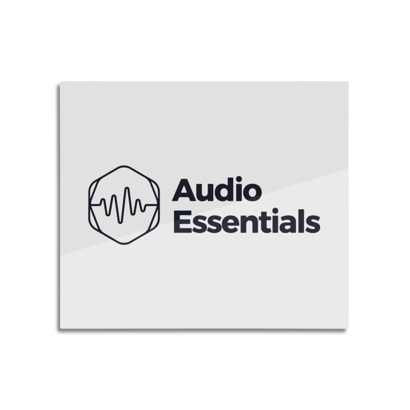 Audio Essentials Black Home Mounted Acrylic Print by Precision Productions Artiste Shop