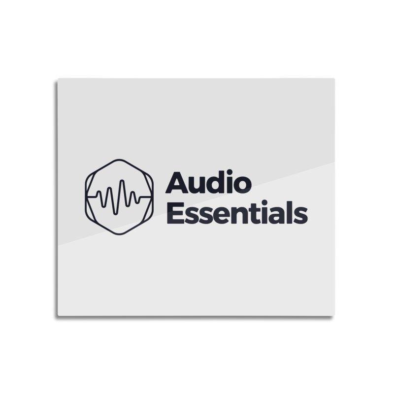 Audio Essentials Black Home Mounted Aluminum Print by Precision Productions Artiste Shop
