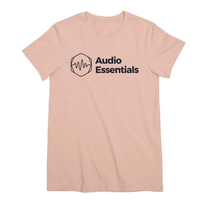 Audio Essentials Black Women's Premium T-Shirt by Precision Productions Artiste Shop