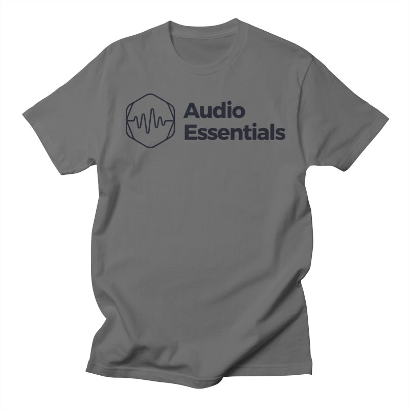 Audio Essentials Black Men's T-Shirt by Precision Productions Artiste Shop