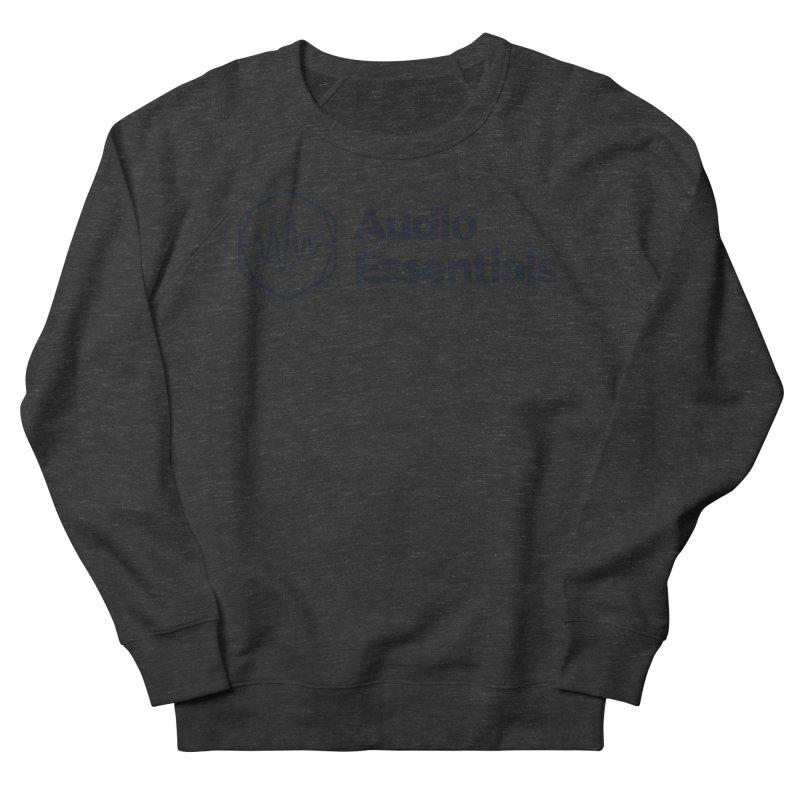Audio Essentials Black Men's French Terry Sweatshirt by Precision Productions Artiste Shop
