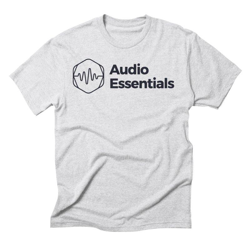 Audio Essentials Black Men's Triblend T-Shirt by Precision Productions Artiste Shop