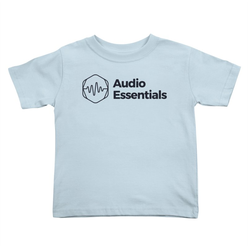 Audio Essentials Black Kids Toddler T-Shirt by Precision Productions Artiste Shop