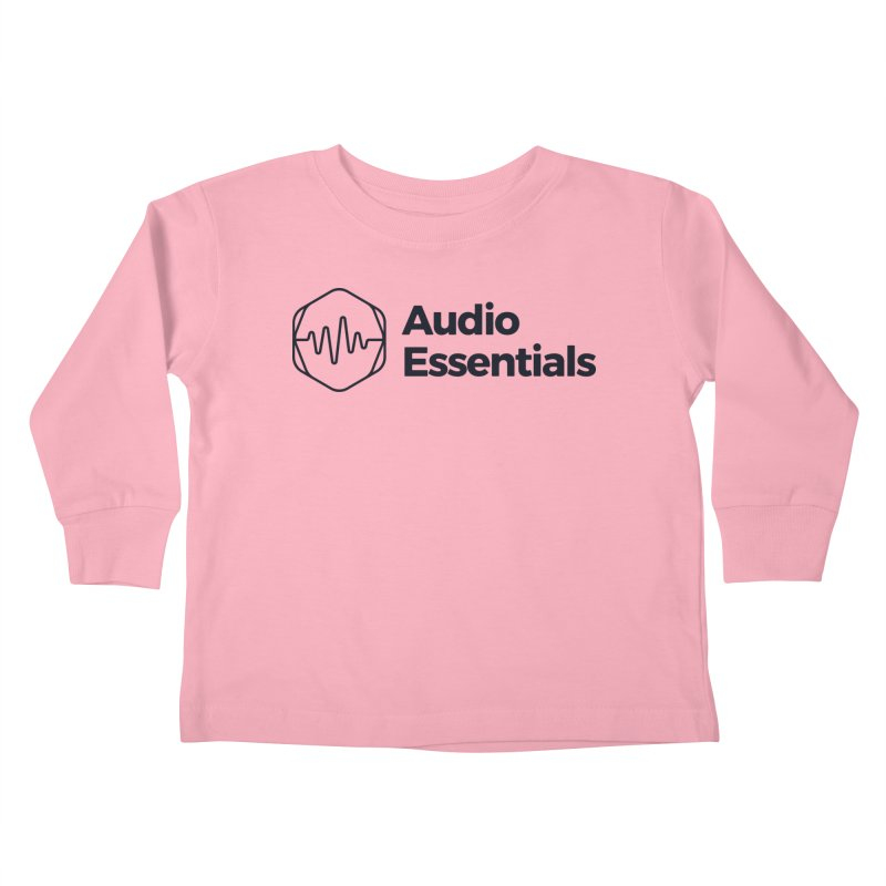Audio Essentials Black Kids Toddler Longsleeve T-Shirt by Precision Productions Artiste Shop