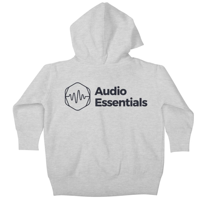 Audio Essentials Black Kids Baby Zip-Up Hoody by Precision Productions Artiste Shop