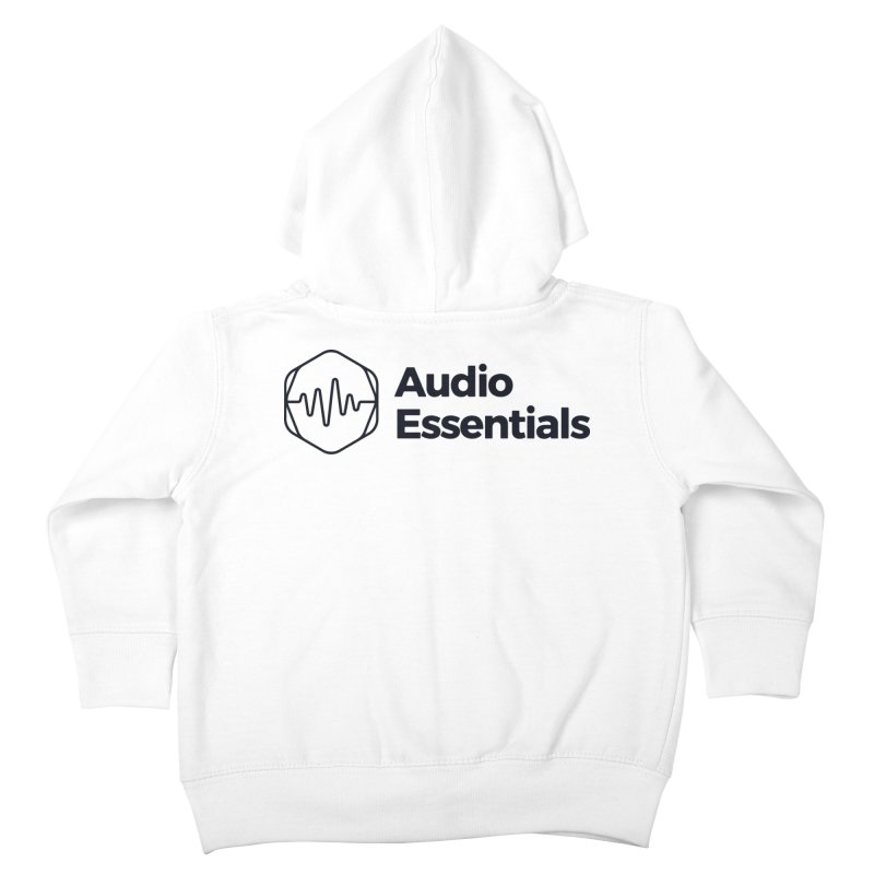 Audio Essentials Black Kids Toddler Zip-Up Hoody by Precision Productions Artiste Shop