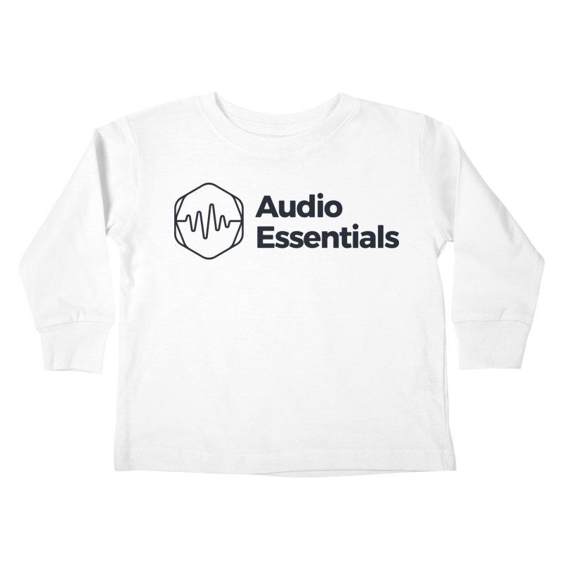 Audio Essentials Black Kids Toddler Longsleeve T-Shirt by Precision Productions Artiste Shop