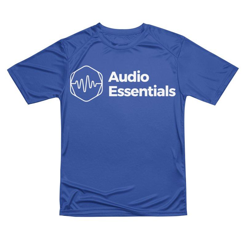 Audio Essentials White Women's Performance Unisex T-Shirt by Precision Productions Artiste Shop