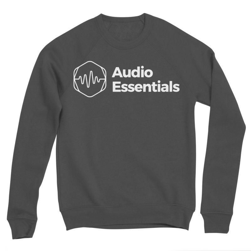 Audio Essentials White Men's Sponge Fleece Sweatshirt by Precision Productions Artiste Shop