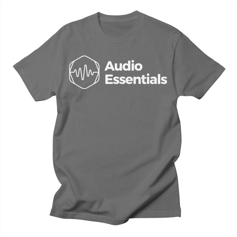 Audio Essentials White Men's T-Shirt by Precision Productions Artiste Shop
