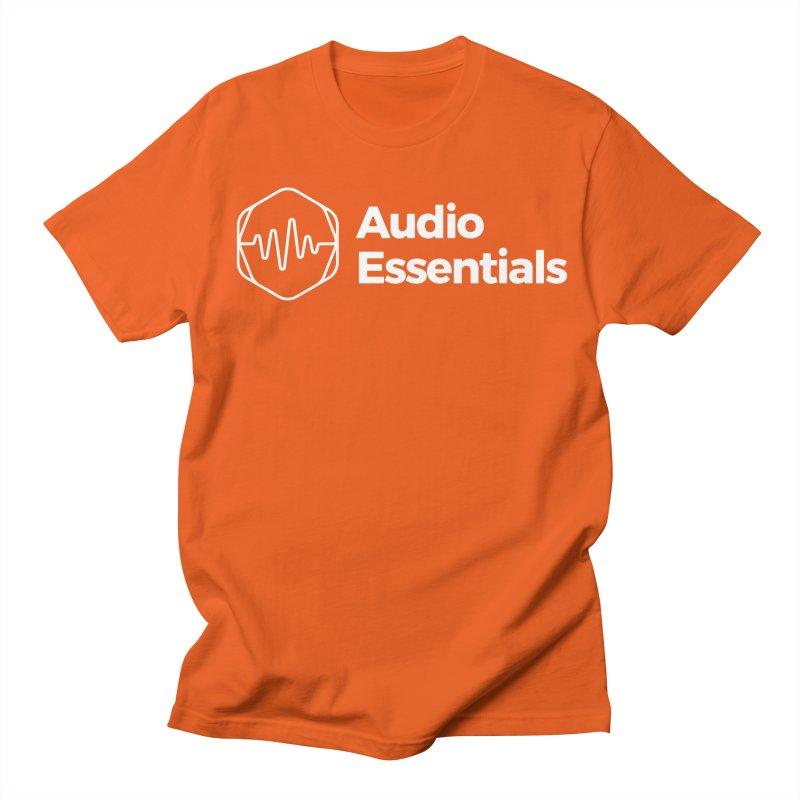 Audio Essentials White Men's Regular T-Shirt by Precision Productions Artiste Shop