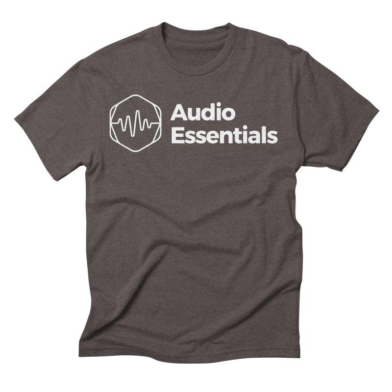 Audio Essentials White Men's Triblend T-Shirt by Precision Productions Artiste Shop