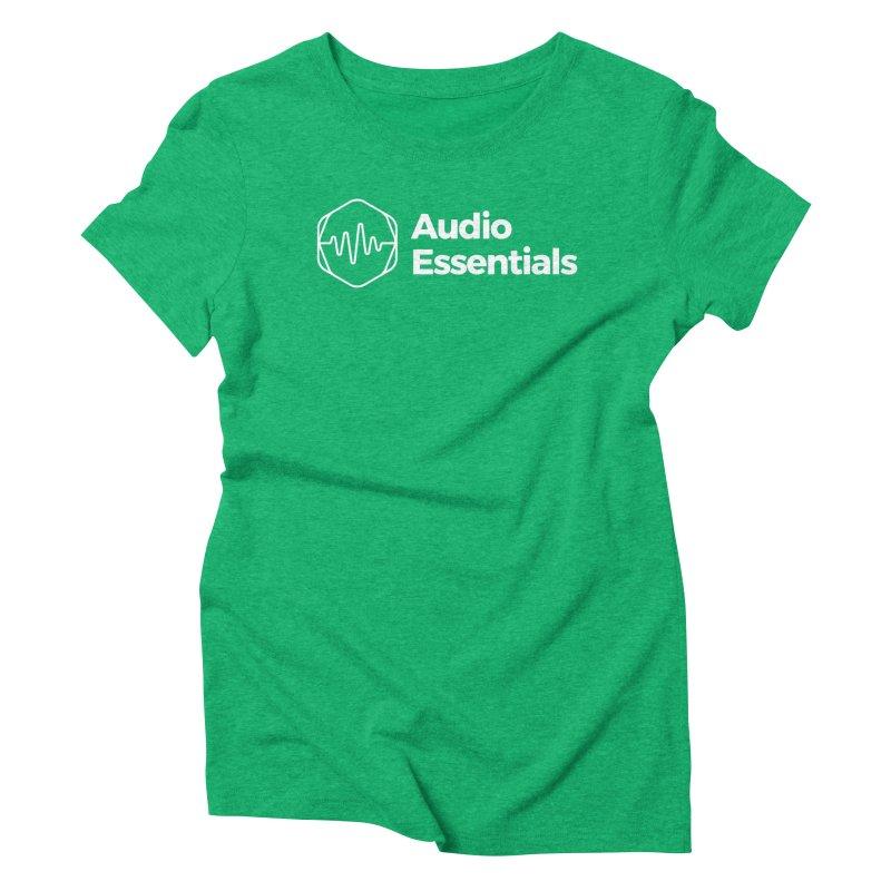 Audio Essentials White Women's T-Shirt by Precision Productions Artiste Shop