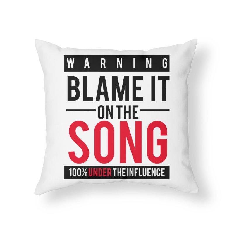 Blame It Home Throw Pillow by Precision Productions Artiste Shop