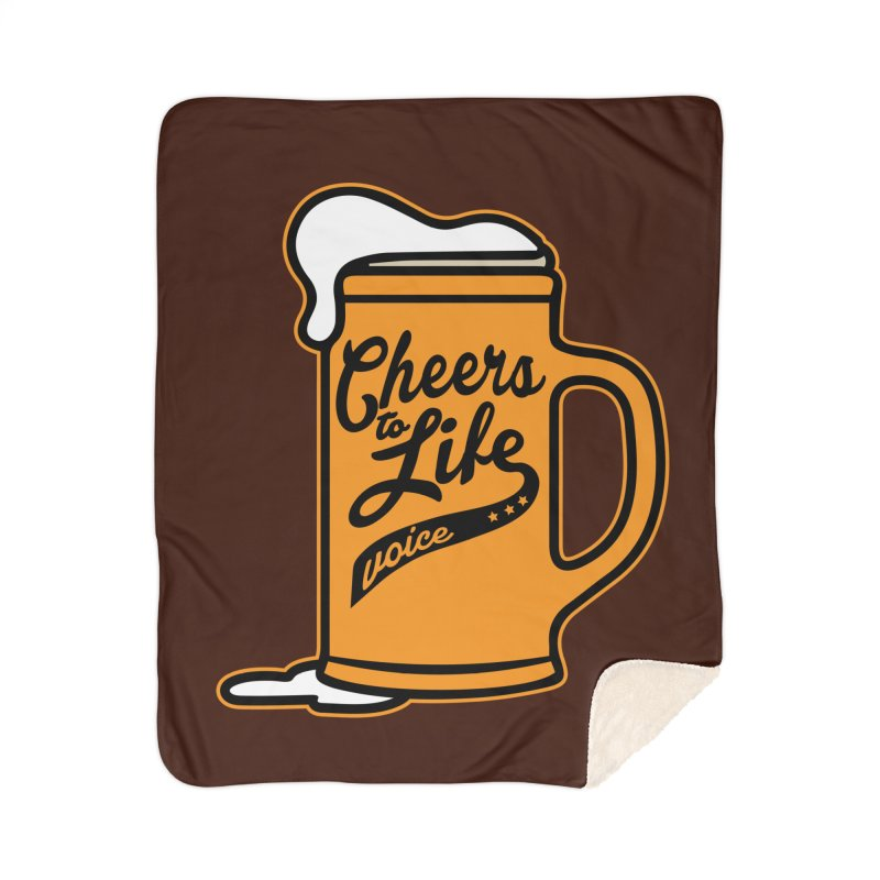 Cheers to Life Home Sherpa Blanket Blanket by Precision Productions Artiste Shop