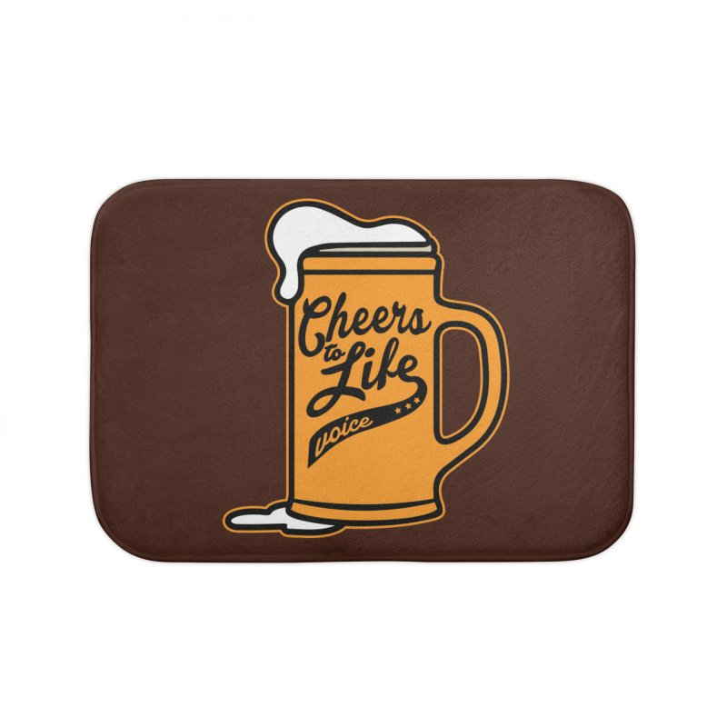 Cheers to Life Home Bath Mat by Precision Productions Artiste Shop