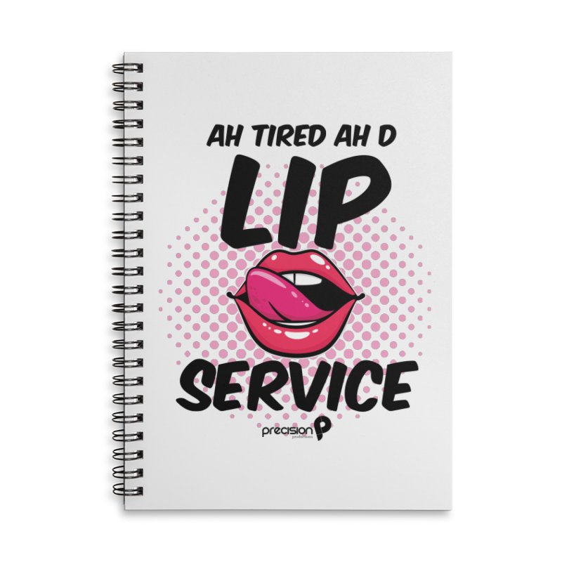 Lip Service Accessories Lined Spiral Notebook by Precision Productions Artiste Shop