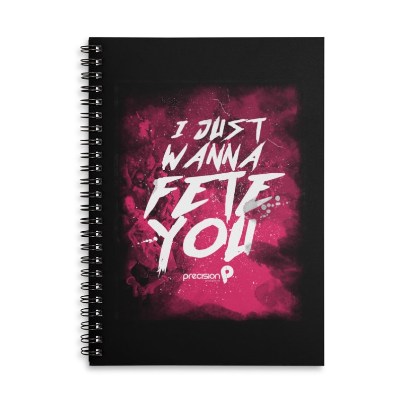 Fete You Accessories Lined Spiral Notebook by Precision Productions Artiste Shop