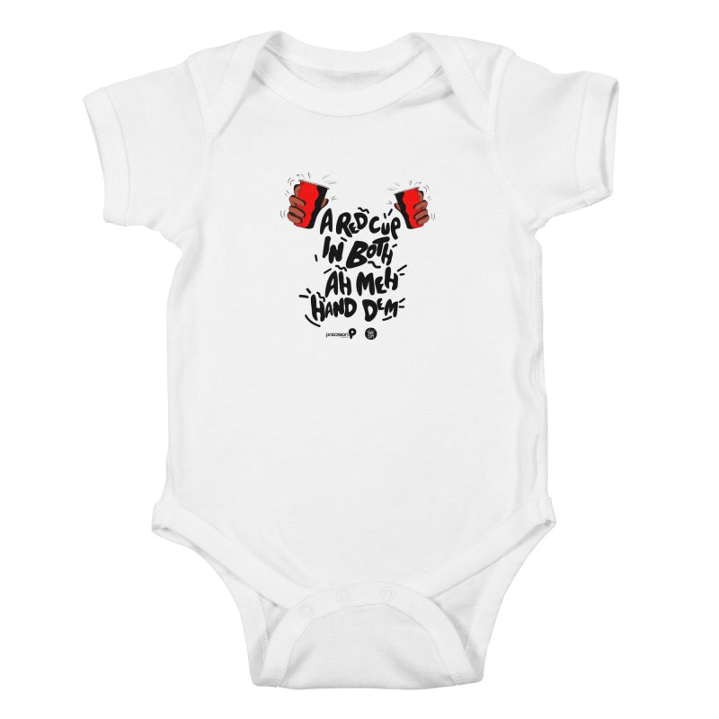 Red Cup Kids Baby Bodysuit by Precision Productions Artiste Shop