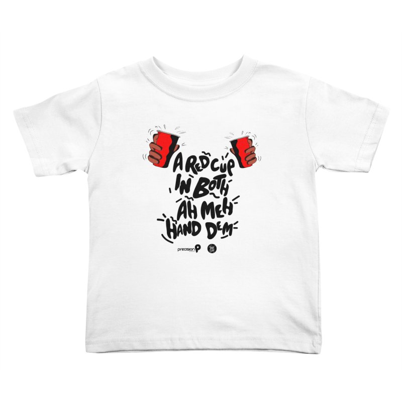 Red Cup Kids Toddler T-Shirt by Precision Productions Artiste Shop