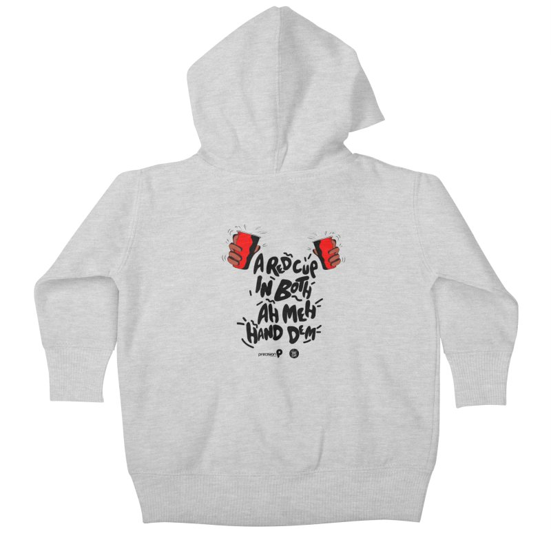 Red Cup Kids Baby Zip-Up Hoody by Precision Productions Artiste Shop