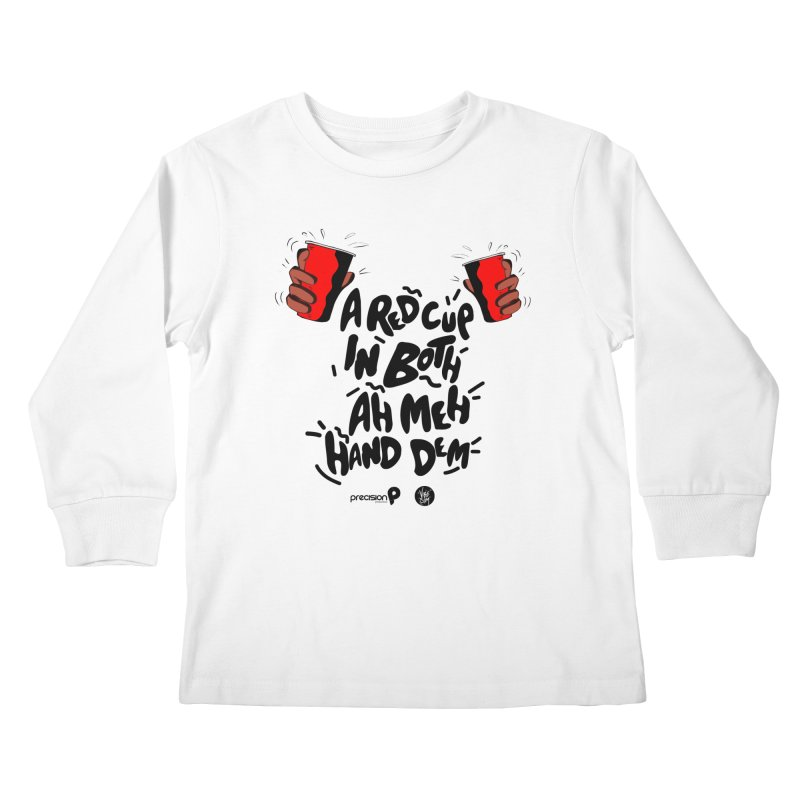 Red Cup Kids Longsleeve T-Shirt by Precision Productions Artiste Shop