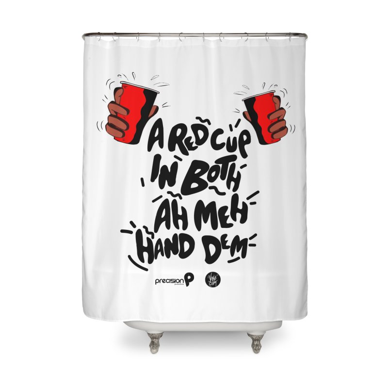 Red Cup Home Shower Curtain by Precision Productions Artiste Shop
